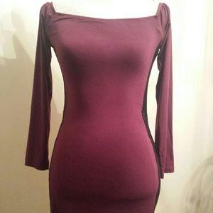 Sky Hebez Stretch Off Shoulder Mini Dress